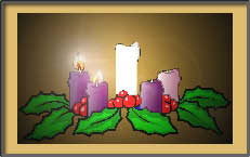The second candle lit in the Advent wreath.