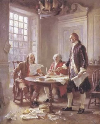 Working on the Declaration of Independence