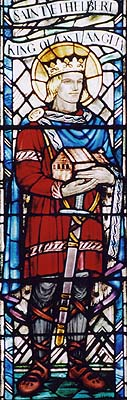 Æthelbert in stained glass