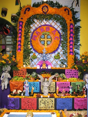 An altar decorated for All Souls' Day