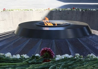 Photograph of eternal flame memorialfor the Martyrs of Armenia
