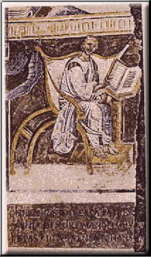 Moasaic showing Augustine of Hippo