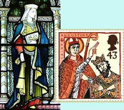 Bertha and Aethelberht with Augustine