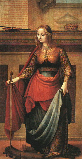 Painting of Catherine of Alexandria