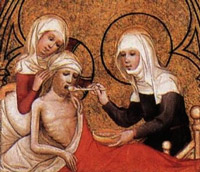 Elizabeth of Hungary feeding a sick person