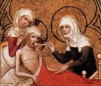 Elizabeth of Hungary feeding a sick person