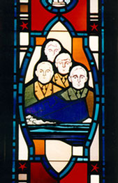 The Four Chaplains stained glass window from the Chapel at Fort Snelling, Minnesota